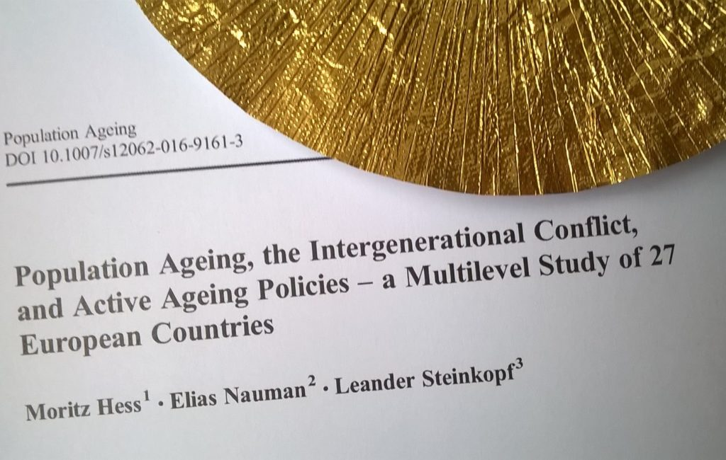 "Paper in ""Population Ageing"""