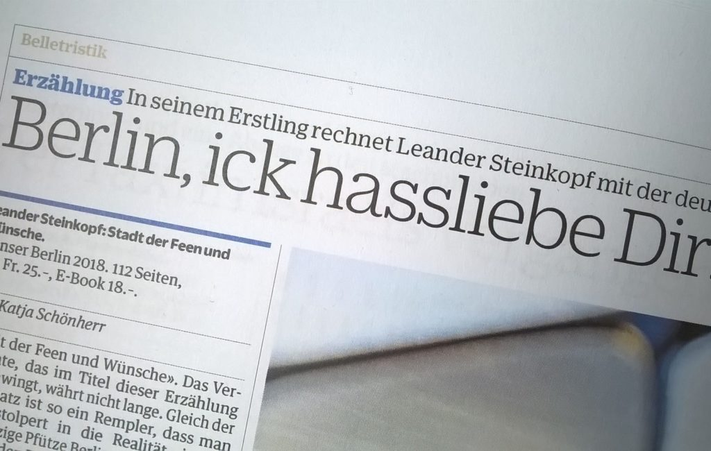 """NZZ Bücher am So.: """"beeindruckendes Debüt"""""""